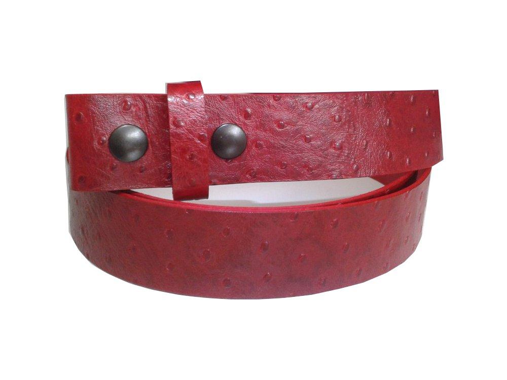 bf30cbc6080 Ceinture rouge en cuir pleine fleur avec grains apparents pour boucles de  ceinture. Largeur  3.8cm