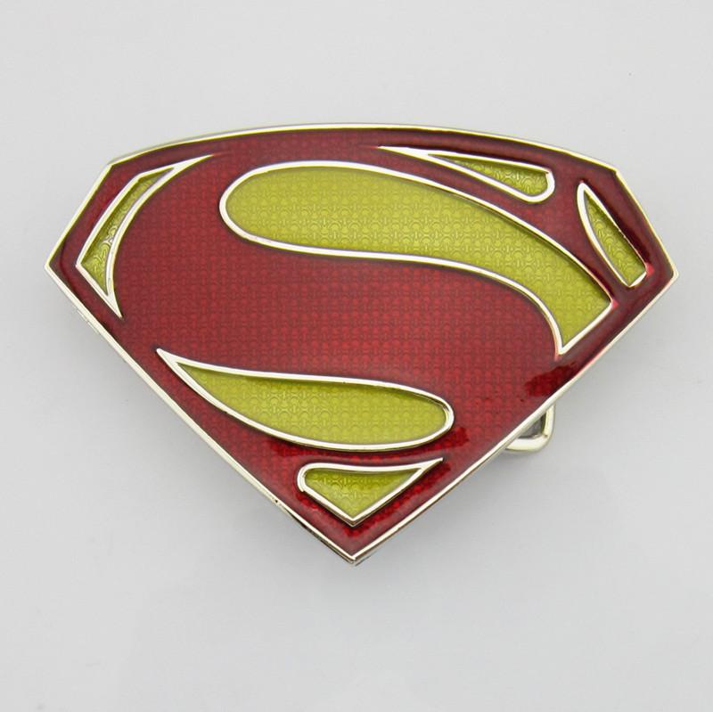 357017f6db1 Boucle de ceinture Superman rouge jaune design - Boucle-de-ceinture.fr