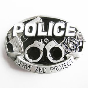 Boucle de ceinture Police Serve and protect