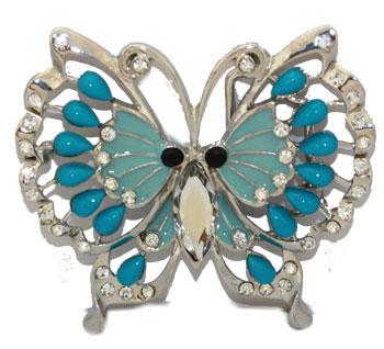 369c317e6253 Boucle de ceinture Papillon Bleu strass - Boucle-de-ceinture.fr