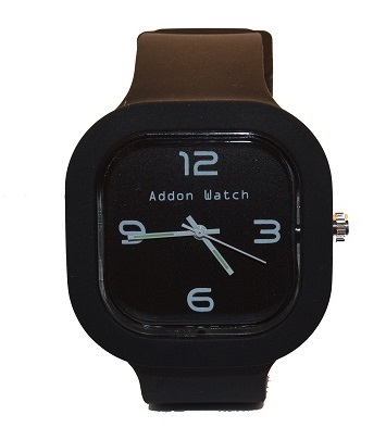 Montre Addon Watch Slim noire