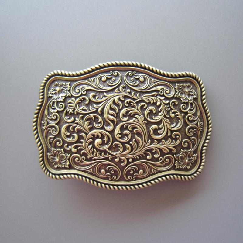 4e770f464887 Boucle de ceinture western classique original design plaqué bronze ...