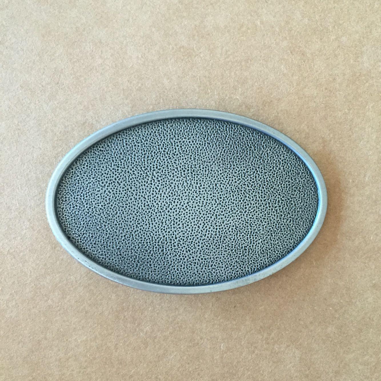 Boucle de ceinture vierge personnalisable ovale chrome - Boucle-de ... a5d217f7af9