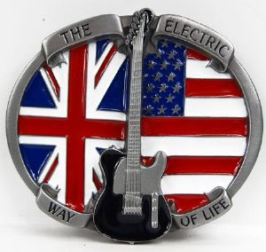 Boucle de ceinture Guitare The electric way of life