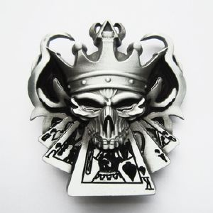 Boucle de ceinture Poker tête de mort quinte - Boucle-de-ceinture.fr c3ca15ff8ae