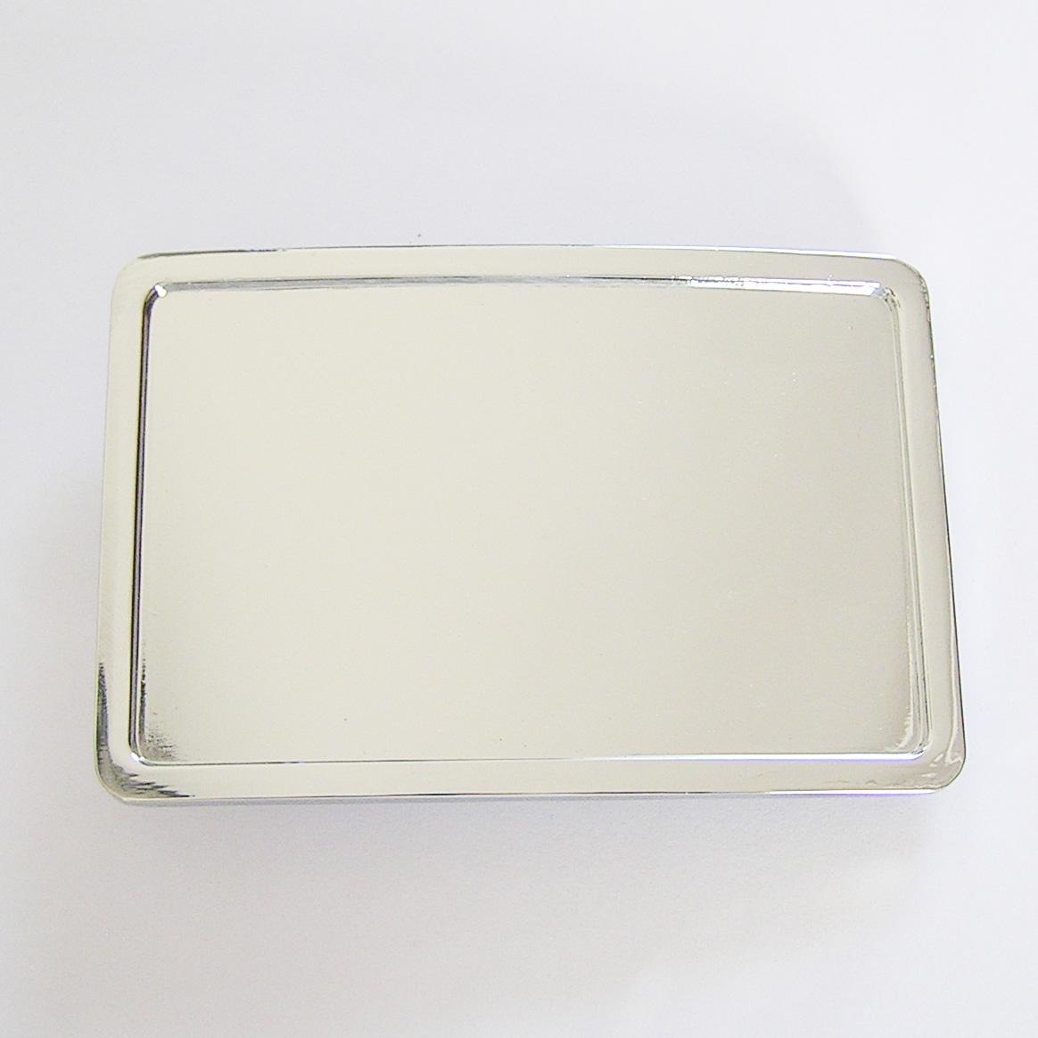 Boucle de ceinture vierge personnalisable rectangle chrome - Boucle ... a92ee1c1daf