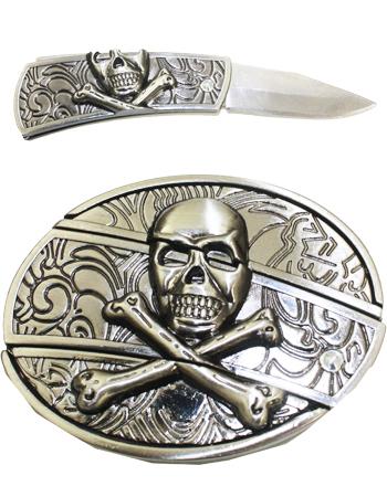1dc25ea16e3 Boucle de ceinture Couteau Tête de mort design 03 - Boucle de ceinture.fr