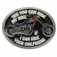 Boucle de ceinture Biker Yes you can ride my bike if...