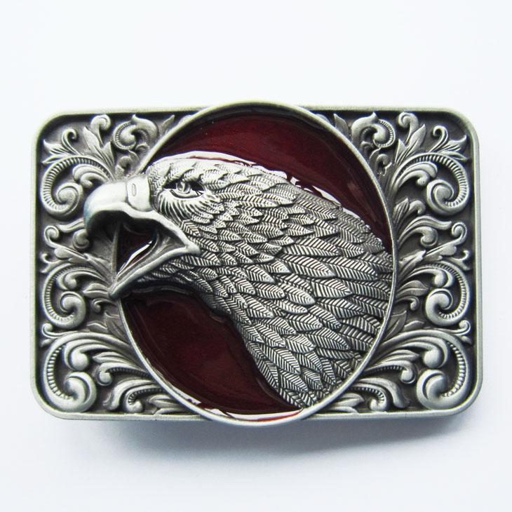 boucle de ceinture t te d 39 aigle fond rouge boucle de. Black Bedroom Furniture Sets. Home Design Ideas