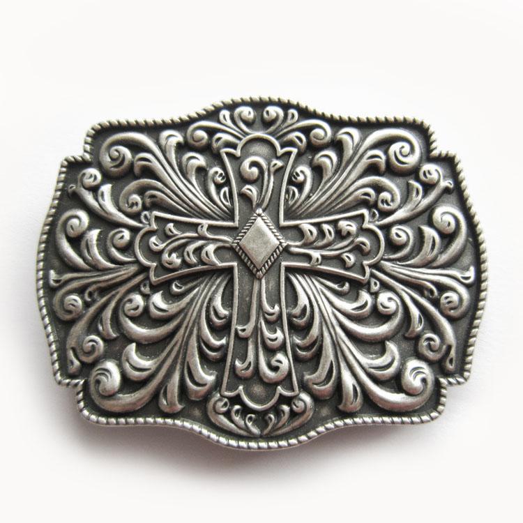 ab5f9f805c16 Boucle de ceinture croix celtique plaqué argent - Boucle-de-ceinture.fr