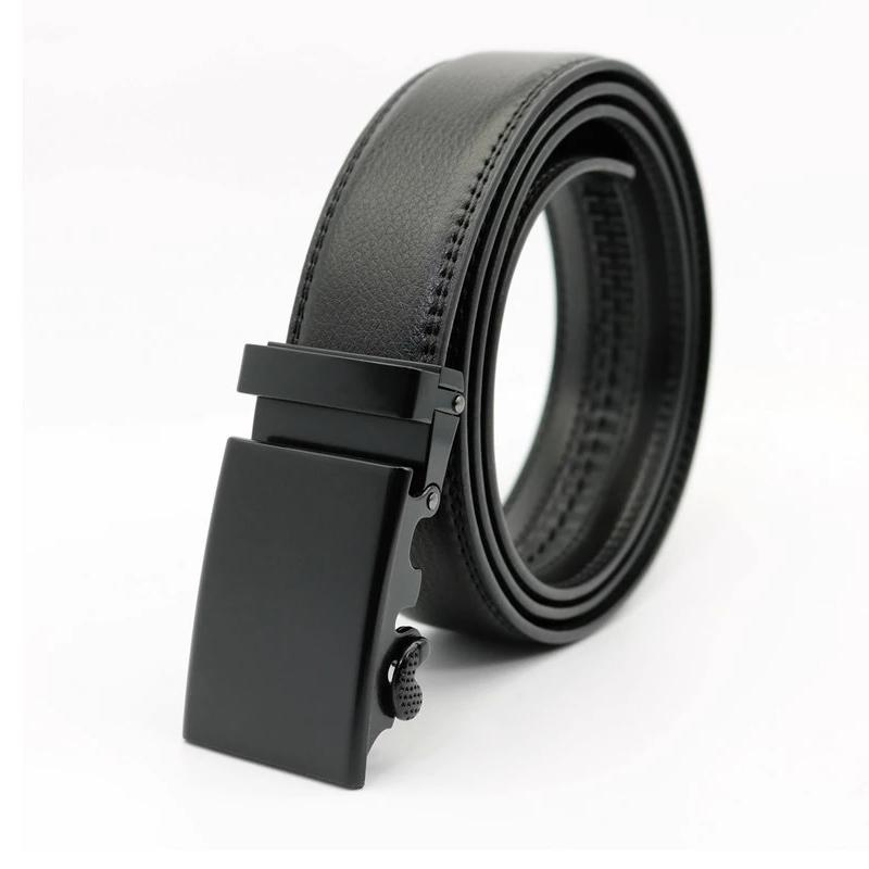 nouveaux styles f744c 32bcb CA08 - Ceinture cuir noir avec boucle automatique Total noire