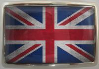 ca9cdd758c5e Boucle de ceinture Drapeau UK Vintage contour chrome