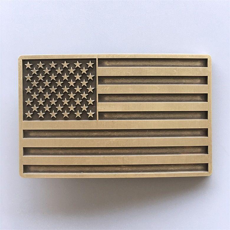 5e5c3f71854b Boucle de ceinture Drapeau USA plaqué bronze - Boucle-de-ceinture.fr