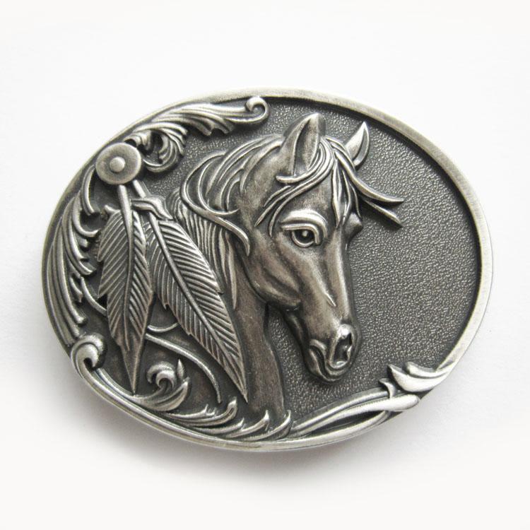 f3709867409a Boucle de ceinture cheval western plaqué argent - Boucle-de-ceinture.fr