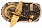 Boucle de ceinture Avion Battle of Britain plaqué or 24 carats