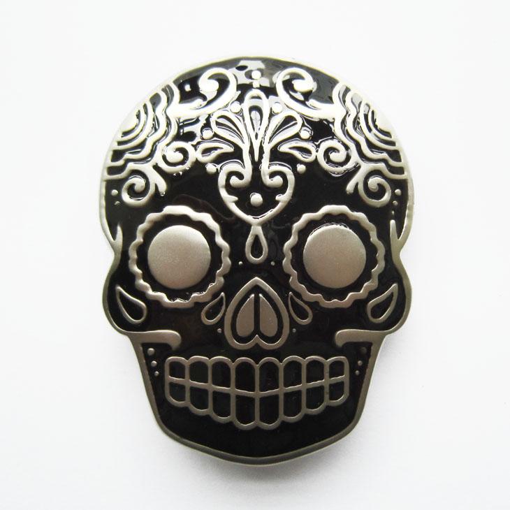 sélection premium détails pour acheter mieux Boucle de ceinture Tattoo skull noir