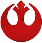 Boucle de ceinture Star Wars Rebel Alliance logo rouge