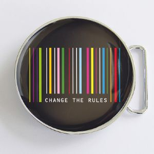 Boucle de ceinture Change the rules ronde
