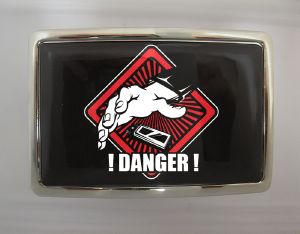 Boucle de ceinture Danger rectangle chrome