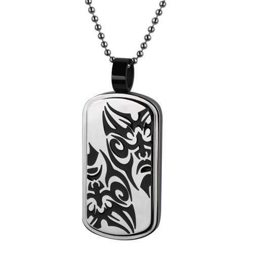 Pendentif Dog tag tribal