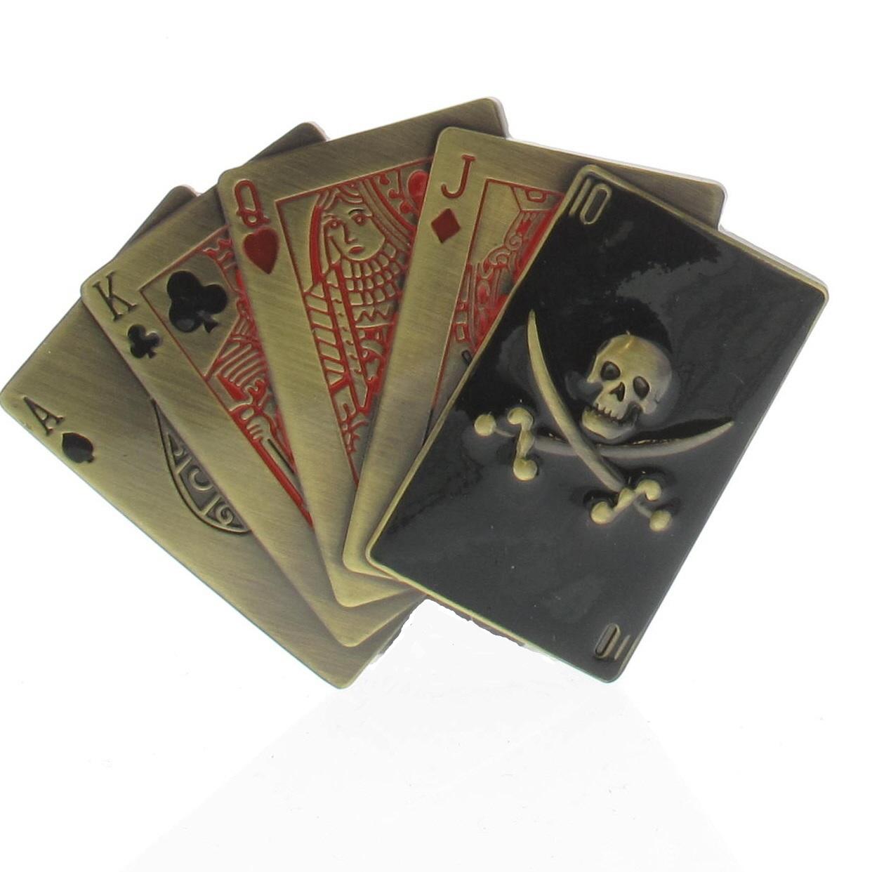 Boucle de ceinture Poker quinte flush pirate design - Boucle-de ... 4806768c41b