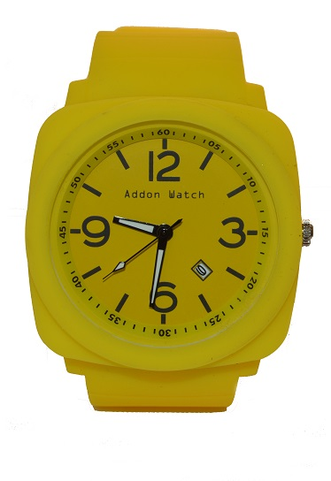 Montre Addon Watch Big jaune