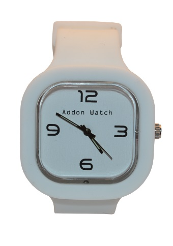 Montre Addon Watch Slim blanche
