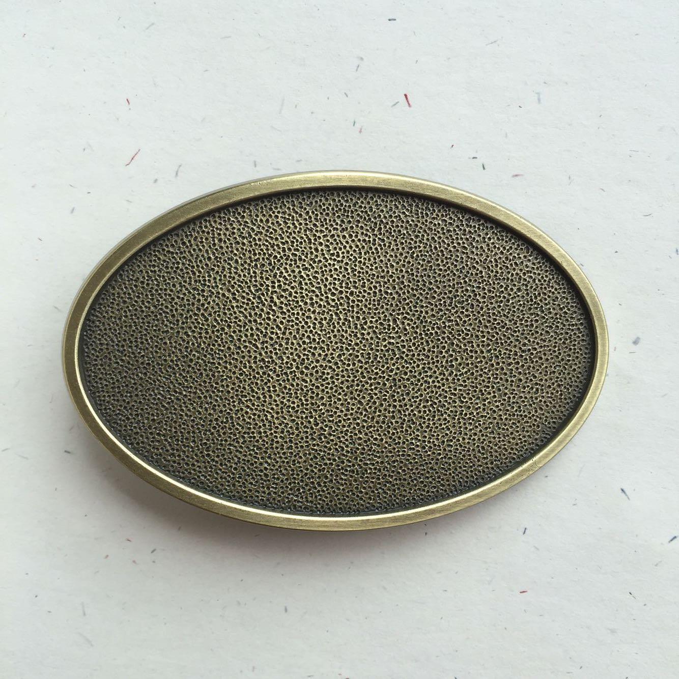 Boucle de ceinture vierge personnalisable ovale bronze - Boucle-de ... 6a5d12e2d7e