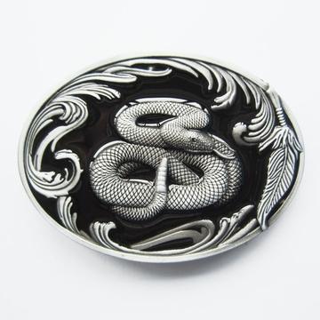 17351f55e8bf Boucle de ceinture Western Serpent à sonnette noir. Largeur  9,5 cm    Hauteur 6.5 cm. Poids  100 g. Matière de la boucle  Alliage métal