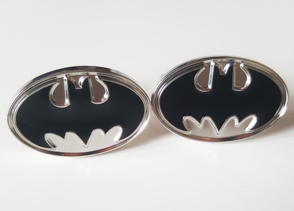 1a4f175cb424 Boutons de manchette Batman silver noir - Boucle-de-ceinture.fr