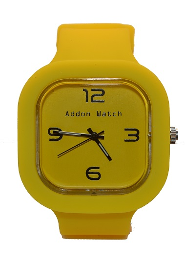 Montre Addon Watch Slim jaune