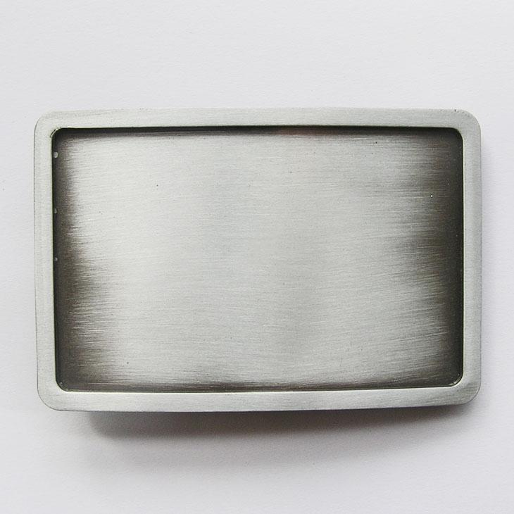 Boucle de ceinture vierge personnalisable rectangle Antique silver ... 13d1a107d06