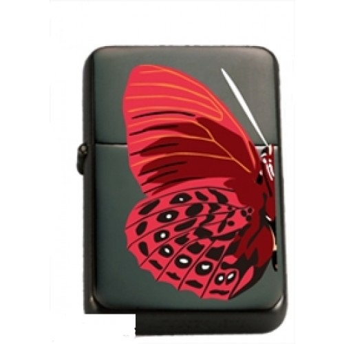 Briquet Papillon rouge